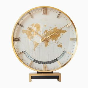 Large Vintage World Time Table Clock from Kienzle, 1970s