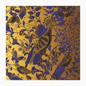 Cubierta mural de tela con colibríes de Chiara Mennini para Midsummer-Milano