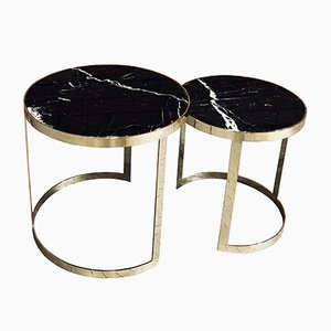 DUO WIDE Nero Coffee Table from GO.OUD - furniture of brass