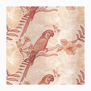 Textile Papagei-Wandbekleidung von Chiara Mennini für Midsummer-Milano