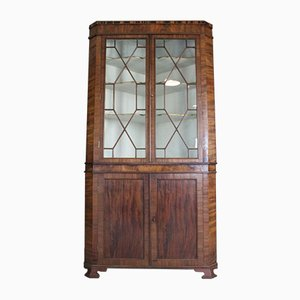 Antique Mahogany Astragal Glazed Corner Cabinet