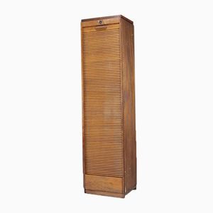 Vintage Oak Tambour Filing Cabinet
