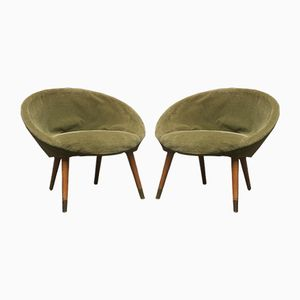 Round Armchairs, 1960s, Set of 2