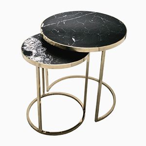 DUO Side Table from GO.OUD - furniture of brass