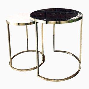 DUO Nero & Bianco Beistelltisch von GO.OUD- furniture of brass