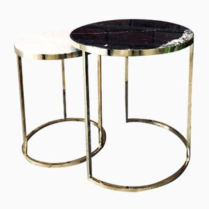 Table d'Appoint DUO Noire et Blanche de GO.OUD- Furniture of Brass