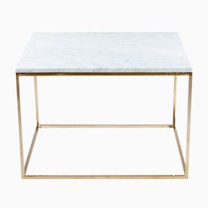 CUBE Bianco Coffee Table from GO.OUD - furniture of brass