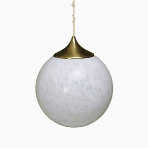 Murano Glass Globe Pendant from Mazzega, 1970s