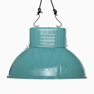 Lampada industriale turchese di Predom Mesko, 1969