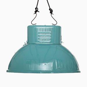 Lámpara industrial turquesa de Predom Mesko, 1969