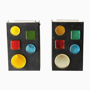 Geometric Wall Lights from Raak, 1960s, Set of 2