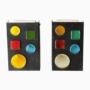 Geometrische Wandlampen von Raak, 1960er, 2er Set