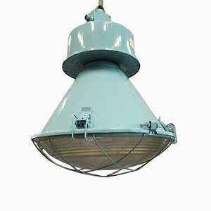 250E-1 Turquoise Industrial Light from Predom Mesko, 1972