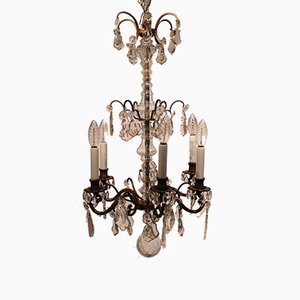 French Chandelier with Prisms, 1940s
