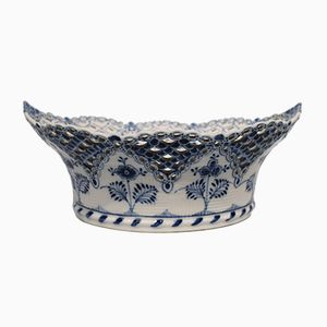 Vintage Blue Laced Bowl from Royal Copenhagen, 1920s
