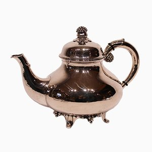 Vintage Teekanne aus geprägtem Silber, 1920er