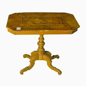 Antique Sorrentino Inlaid Walnut Table, 1780