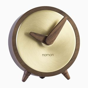 Atomo Gold Clock by Andres Martinez for NOMON