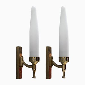 Mid-Century Italian Wall Lights, 1950s, Set of 2
