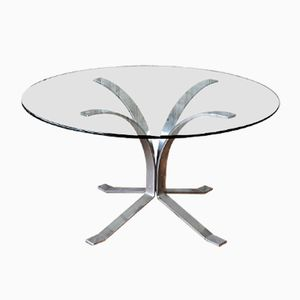 German Chrome and Glass Coffee Table, 1960s