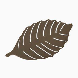 Escultura de hoja de encina Still Leaves de níquel de Architetti Artigiani Anonimi