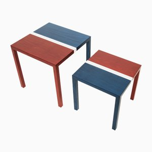 Partenope Coffee Tables in B2 Pattern Marquetry by Architetti Artigiani Anonimi, Set of 2