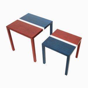 Tables Basses Partenope en Marqueterie Motif B2 par Architetti Artigiani Anonimi, Set de 2