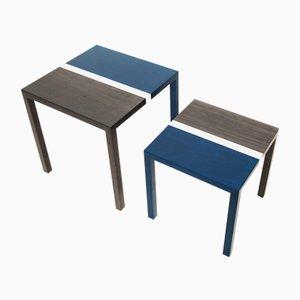 Partenope Coffee Tables in B1 Pattern Marquetry by Architetti Artigiani Anonimi, Set of 2