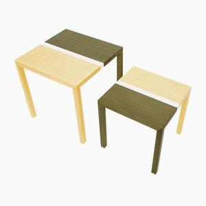Tables Basses Partenope en Marqueterie Motif V3 par Architetti Artigiani Anonimi, Set de 2