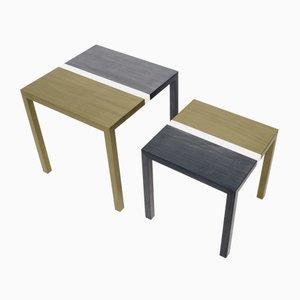 Tavolini da caffè Partenope con intarsio V1 di Architetti Artigiani Anonimi, set di 2