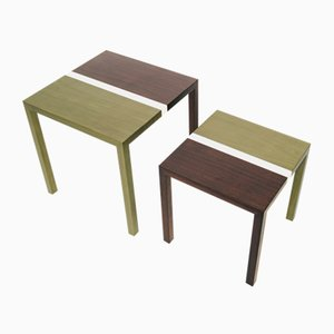 Partenope Coffee Tables in V2 Pattern Marquetry by Architetti Artigiani Anonimi, Set of 2