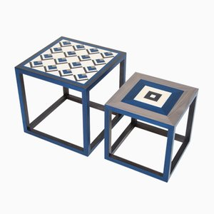 Partenope Coffee Tables in Cb1 & Qb Pattern Marquetry by Architetti Artigiani Anonimi