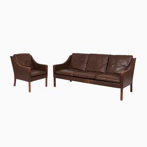 Vintage Sofa & Sessel von Børge Mogesen für Fredericia