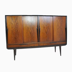 Rosewood Highboard from Omann Jun, 1950s