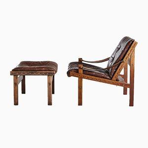 Hunter Lounge Chair by Torbjørn Afdal for Bruksbo Norway, 1960s