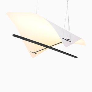 Lampada ELEVATION di Gaspard Graulich in carta e acciaio