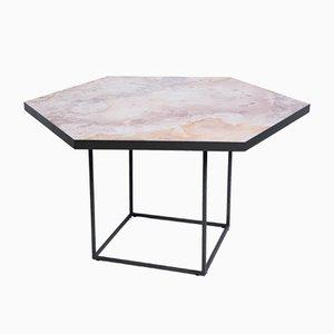 Tavolo CONFLUENCE di Gaspard Graulich in pietra naturale e acciaio