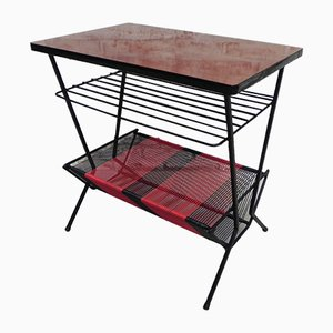 Vintage French Table with Magazine Rack