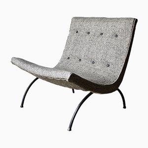 Chaise Scoop Vintage par Milo Baughman, 1960s