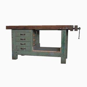 Mesa de trabajo de carpintería italiana vintage