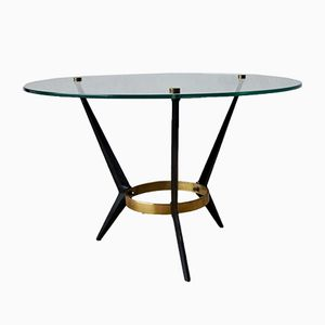 Vintage Italian Round Coffee Table by Angelo Ostuni, 1950s
