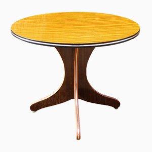 Mesa auxiliar vintage redonda de formica, años 70