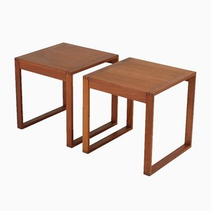 Danish Side Tables by Torben Lind & Ole Gjerløv-Knudsen, 1960s, Set of 2