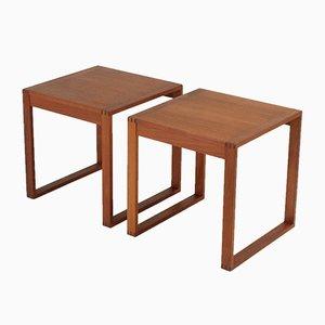 Tables d'Appoint par Torben Lind & Ole Gjerløv-Knudsen, Danemark, 1960s, Set de 2
