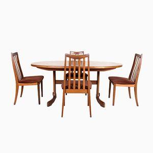 Table de Salle à Manger et 4 Chaises Vintage de G-Plan, 1970s