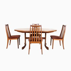 Vintage Dining Table with 4 Chairs Set from G-Plan, 1970s