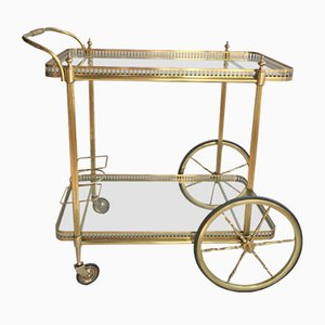 Large Vintage French Brass Trolley