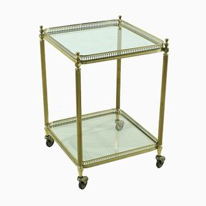 Small Vintage Brass Serving Trolley