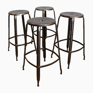 Model Nicolle Workshop Stools, 1950s, Set of 4