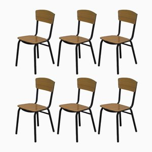 Vintage Side Chairs, 1950s, Set of 6